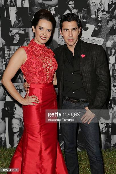 Karent Sierra and Nicolas Felizola participate in the Red Dress Fashion Show to benefit the American Heart Association during Funkshion Fashion Week...