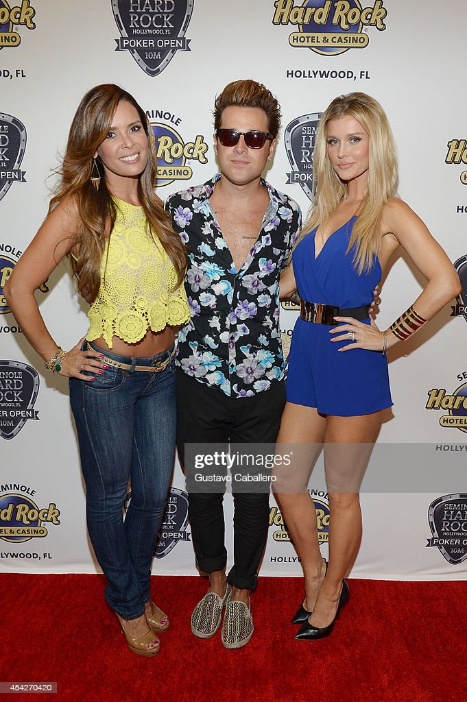 Karent Sierra, Ryan Cabrera, and Joanna Krupa attend the Hollywood Charity Series Of Poker Supported By PokerStars To Benefit Habitat For Humanity at Seminole Hard Rock Hotel & Casino & Hard Rock Cafe Hollywood on August 27, 2014 in Hollywood, Florida.