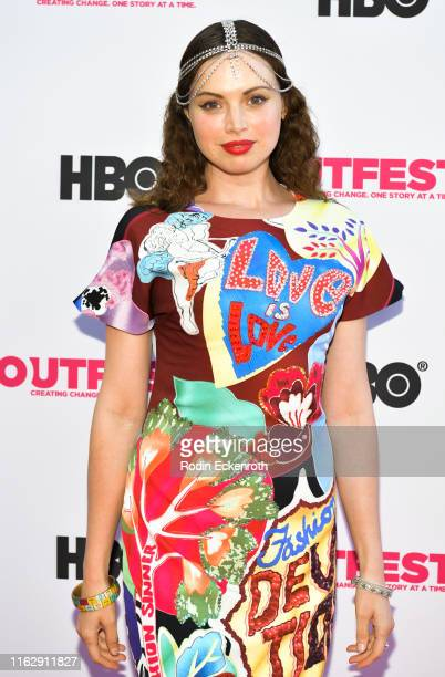 Kari Alison Hodge attends the Outfest Los Angeles LGBTQ Film Festival Opening Night Gala premiere of Circus Of Books at Orpheum Theatre on July 18...