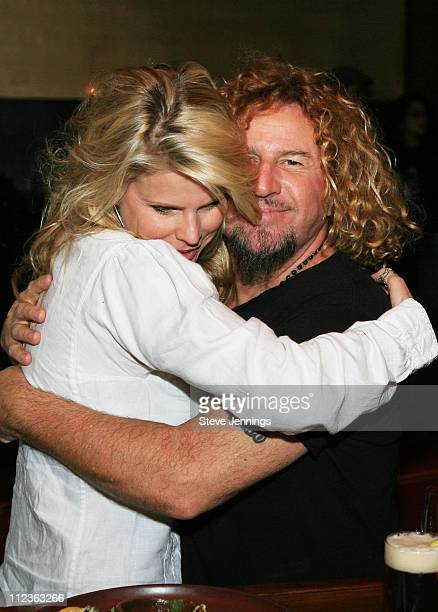 Kari and Sammy Hagar during Sammy Hagar Celebrates His Induction Into the Rock and Roll Hall of Fame with Cabo Wabo Uno Tequila at Impala Restaurant...