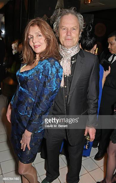 Kari Ann Moller and Chris Jagger attend Anthony Price's 70th birthday party hosted by Nick Rhodes at Blakes Hotel on March 5 2015 in London England