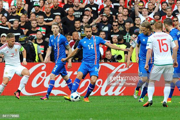 Kari ARNASON of Iceland during the UEFA EURO 2016 Group F match between Iceland and Hungary at Stade Velodrome on June 18 2016 in Marseille France