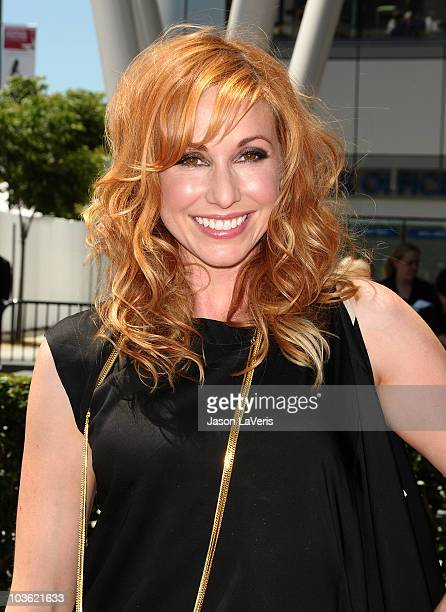 Kari Byron attends the 2010 Creative Arts Emmy Awards at Nokia Plaza LA LIVE on August 21 2010 in Los Angeles California