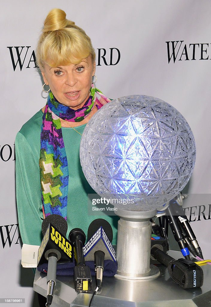 Kari Clark attends the installation of 288 New Waterford Crystals on the 2013 Times Square New Year's Eve Ball at One Times Square on December 27, 2012 in New York City.