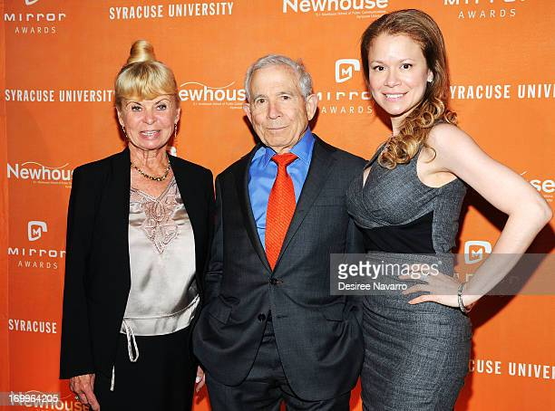 Kari Clark Donald Newhouse and Jacqueline Gonzalez attend the 2013 Newhouse Mirror Awards Luncheon at Cipriani 42nd Street on June 5 2013 in New York...