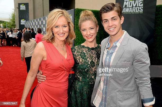 Kari Coleman Caitlin Gerard and Cameron Palatas attend the 2013 MTV Movie Awards at Sony Pictures Studios on April 14 2013 in Culver City California