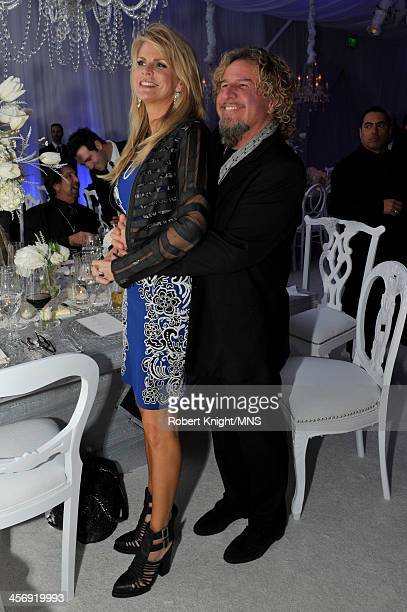 Kari Hagar and Sammy Hagar attend the wedding of Michaele Schon and Neal Schon at the Palace of Fine Arts on December 15 2013 in San Francisco...