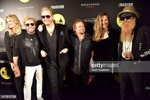 Kari Hagar, Sammy Hagar, Matt Sorum, Michael Anthony Gilligan Stillwater and Billy Gibbons attend the Adopt the Arts annual rock gala at Avalon...