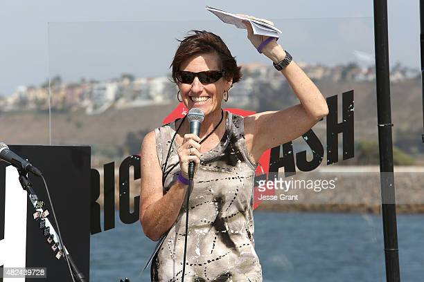 Kari Steele attends the Rick Springfield Rocks The Boat For Ricki and the Flash event on July 30 2015 in Marina del Rey California