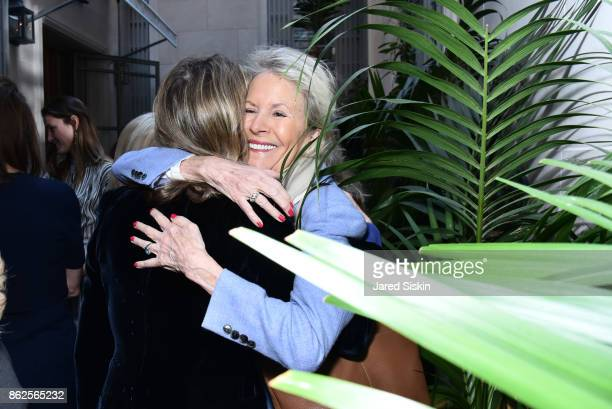 Kari Tiedemann and Joan Jacobson attend QUEST VHERNIER Host Luncheon at MAJORELLE at Majorelle on October 17 2017 in New York City