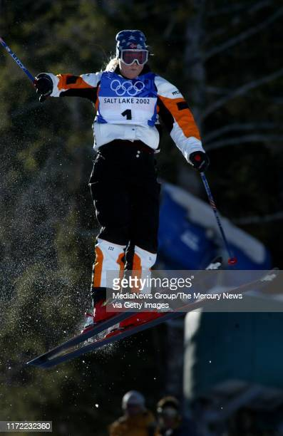 Kari Traa, of Norway, during her run at the Women's Moguls of the 2002 Winter Olympics at Deer Valley resort in Park City, Utah. She won the first...