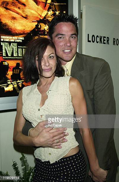Kari Wuhrer and Dean Cain during VSDA Convention July 8 2000 at Venetian and Sands Exposition Center in Las Vegas Nevada United States
