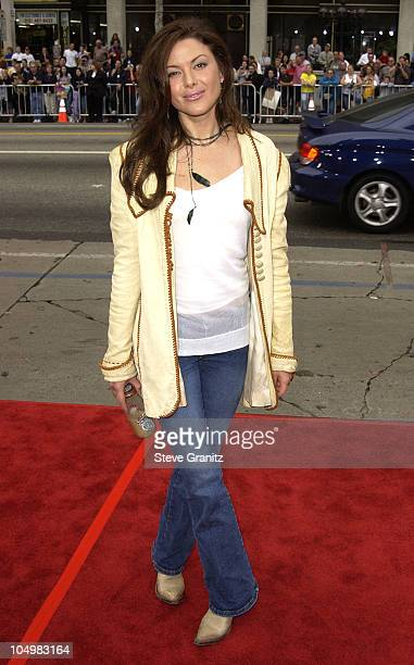 Kari Wuhrer During Scoobydoo Premiere At Graumans Chinese Theater In Hollywood California United States