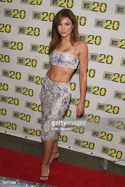 """Kari Wurher arriving at the MTV 20th Anniversary party, """"MTV20: Live and Almost Legal"""" at Hammerstein Ballroom in New York City on 8/1/01. Photo by..."""