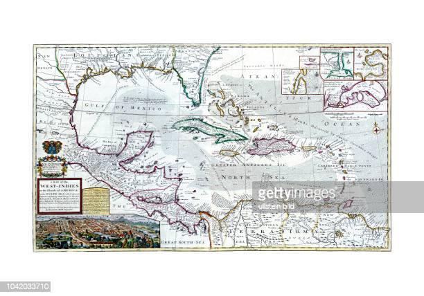 Karibik 1710 A map of the WestIndies or thee Islands of America in North Sea Von Hermann Moll London 1710