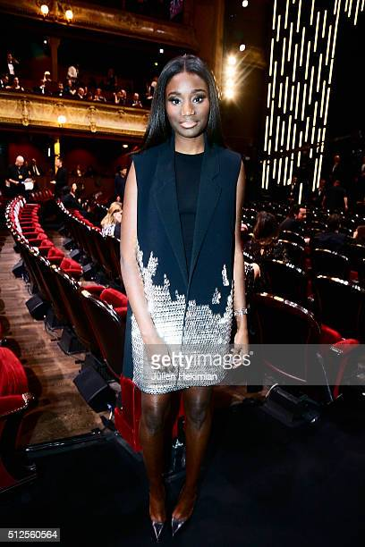 Karidja Touré attends The Cesar Film Award 2016 at Theatre du Chatelet on February 26 2016 in Paris France