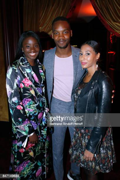 Karidja Toure Ahmed Drame and his companion Eva attend the Reopening of the Hotel Barriere Le Fouquet's Paris decorated by Jacques Garcia at Hotel...