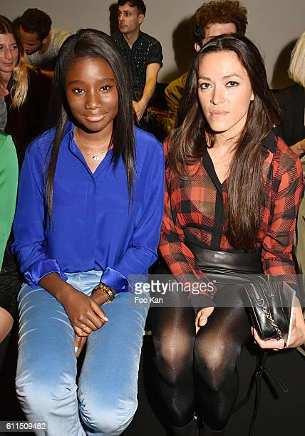 Karidja Toure and Mai Lan attend the Barbara Bui show as part of the Paris Fashion Week Womenswear Spring/Summer 2017 on September 29 2016 in Paris...