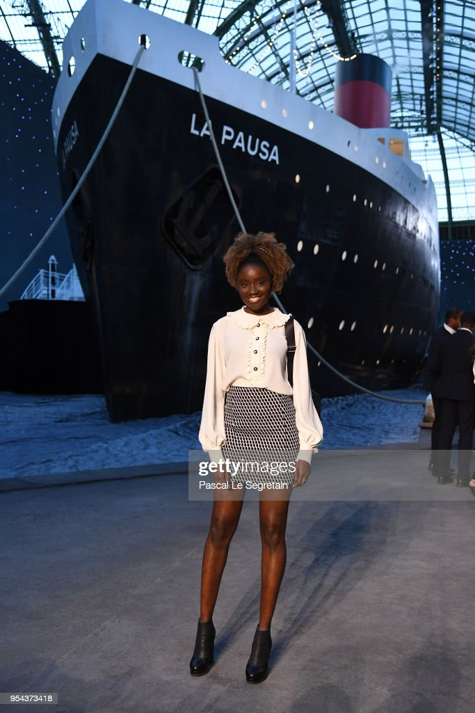 Karidja Toure attends the Chanel Cruise 2018/2019 Collection at Le Grand Palais on May 3, 2018 in Paris, France.