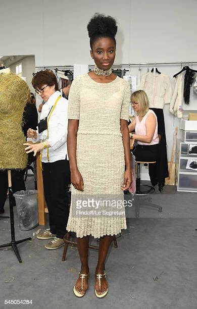 Karidja Toure attends the Chanel Haute Couture Fall/Winter 20162017 show as part of Paris Fashion Week on July 5 2016 in Paris France