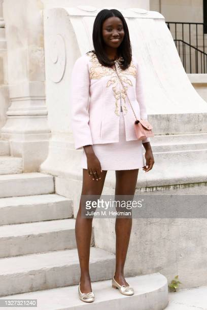 Karidja Toure attends the Chanel Haute Couture Fall/Winter 2021/2022 show as part of Paris Fashion Week on July 06, 2021 in Paris, France.
