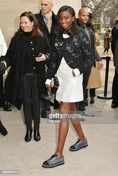 Karidja Toure attends the Chanel Haute Couture Spring Summer 2017 show as part of Paris Fashion Week on January 24 2017 in Paris France