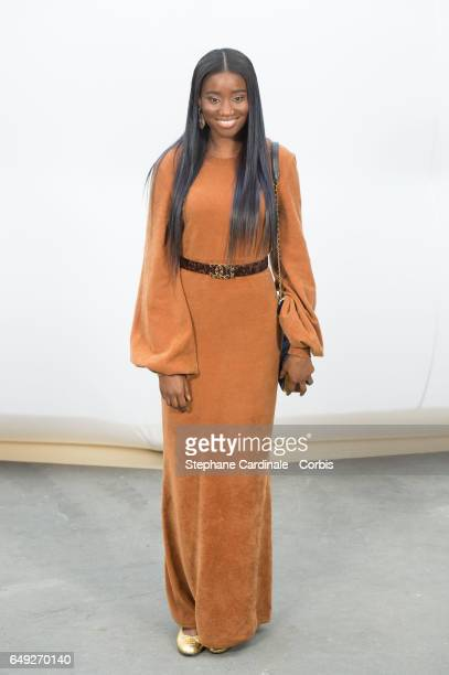 Karidja Toure attends the Chanel show as part of the Paris Fashion Week Womenswear Fall/Winter 2017/2018 on March 7 2017 in Paris France
