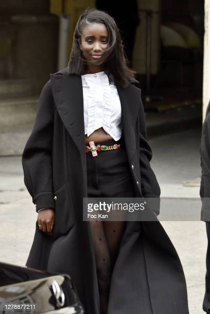 Karidja Toure attends the Chanel Womenswear Spring/Summer 2021 show as part of Paris Fashion Week on October 06, 2020 in Paris, France.