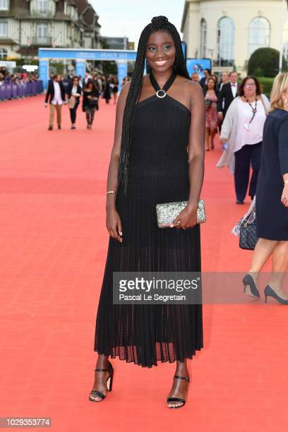 Karidja Toure attends the closing ceremony of the 44th Deauville American Film Festival on September 8 2018 in Deauville France