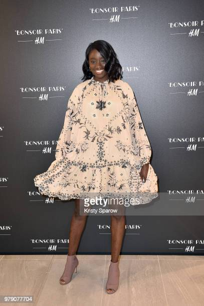 Karidja Toure attends the HM Flagship Opening Party as part of Paris Fashion Week on June 19 2018 in Paris France
