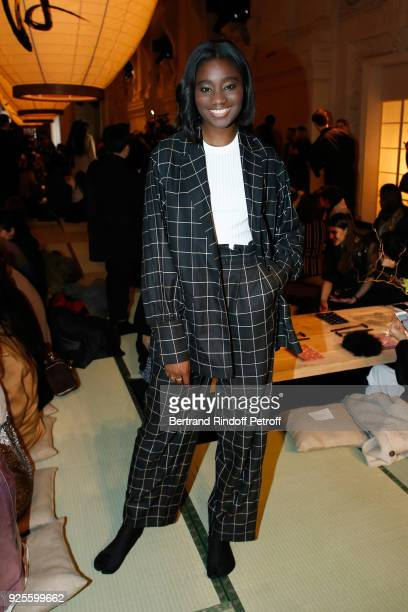 Karidja Toure attends the HM show as part of the Paris Fashion Week Womenswear Fall/Winter 2018/2019 on February 28 2018 in Paris France