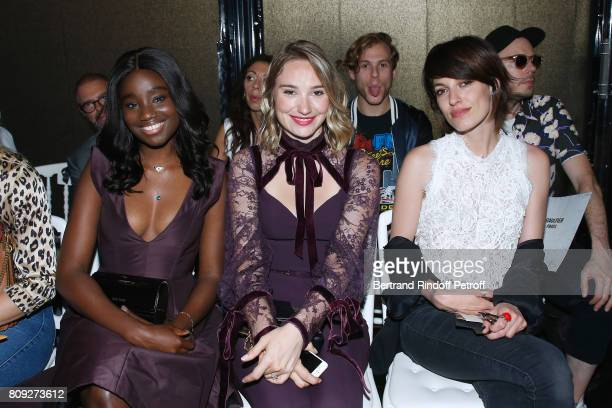 Karidja Toure Deborah Francois and Jennifer Ayache attend the Jean Paul Gaultier Haute Couture Fall/Winter 20172018 show as part of Haute Couture...