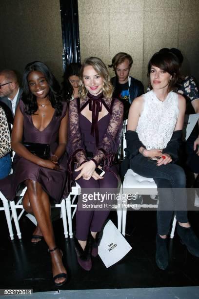 Karidja Toure Deborah Francois and Jennifer Ayache attend the Jean Paul Gaultier Haute Couture Fall/Winter 20172018 show as part of Haute Couture...
