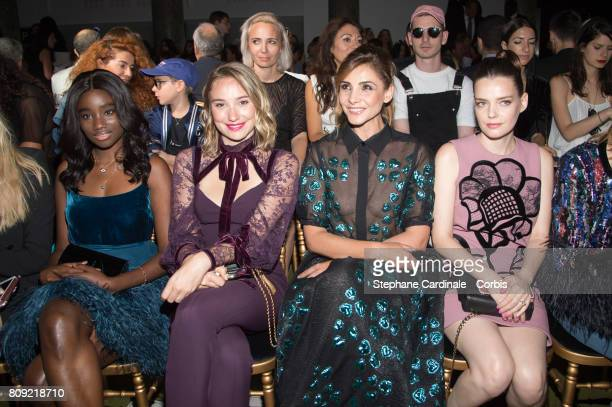 Karidja Toure Deborah Francois Clotilde Courau and Roxane Mesquida attend the Elie Saab Haute Couture Fall/Winter 20172018 show as part of Haute...