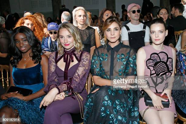 Karidja Toure Deborah Francois Princess of Savoy Clotilde Courau and Roxane Mesquida attend the Elie Saab Haute Couture Fall/Winter 20172018 show as...