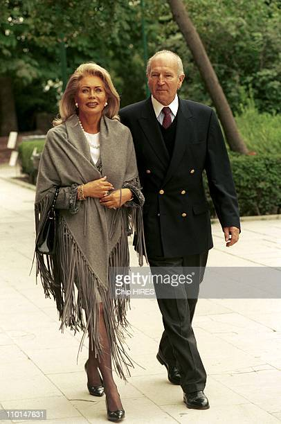 Karim Aga Khan and his wife A Alhambra in Granada Spain on October 10 1998 Renate Thyssen Henne and Ernst Theodor Henne
