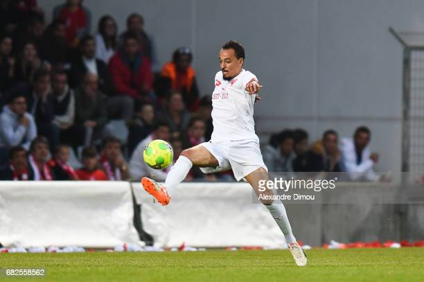 Karim Ait Fana of Nimes during the Ligue 2 match between Nimes Olympique and AC Ajaccio on May 12 2017 in Nimes France