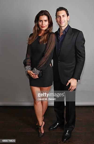 Karim Al Fayed and Brenda Costa attend an after party for the exclusive viewing of 'McQueen' hosted by Karim Al Fayed for Lonely Rock Investments...