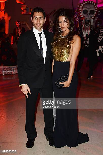Karim Al Fayed and Brenda Costa attend the Royal World Premiere after party of Spectre at The British Museum on October 26 2015 in London England