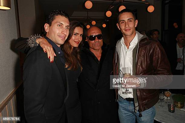 Karim Al Fayed Brenda Costa Noah and Omar Al Fayed attend an after party for the exclusive viewing of 'McQueen' hosted by Karim Al Fayed for Lonely...