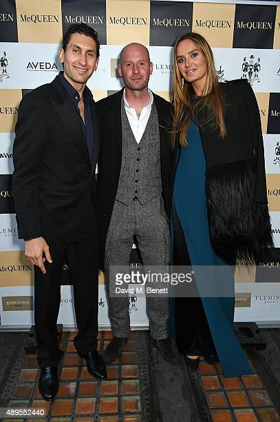 Karim Al Fayed Gary Mcqueen and Masha Markova Hanson attend the exclusive viewing of 'McQueen' hosted by Karim Al Fayed for Lonely Rock Investments...