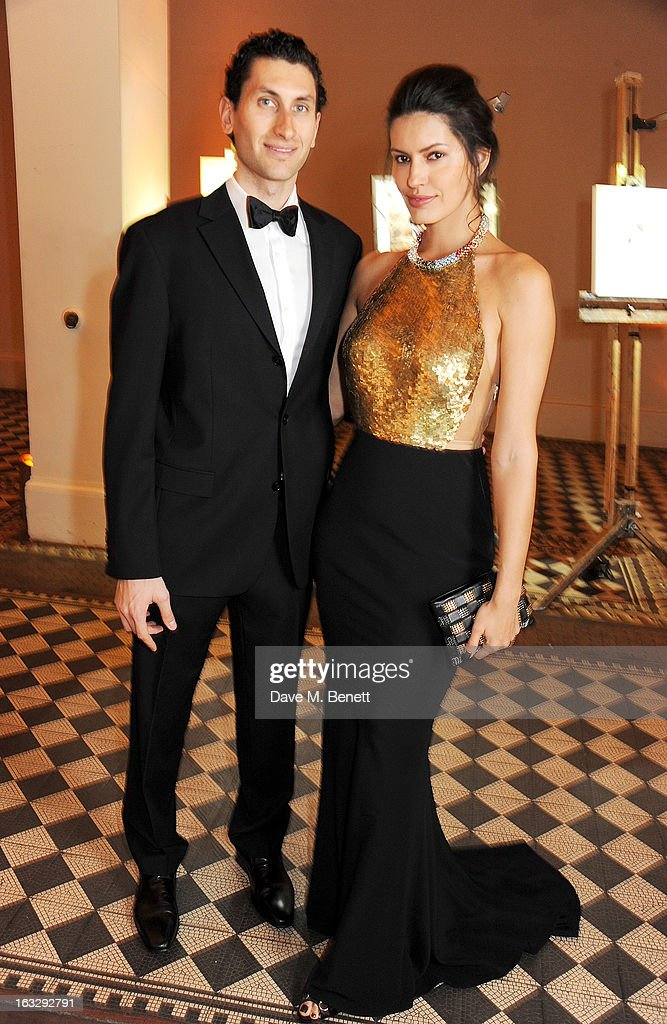 Karim Al-Fayed (L) and Brenda Costa attend The Jasmine Ball in aid of UNICEF's Children of Syria Emergency Appeal at One Mayfair on March 7, 2013 in London, England.