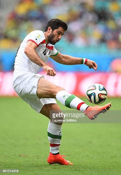 Karim Ansari Fard of Iran controls the ball during the 2014 FIFA World Cup Brazil Group F match between Bosnia and Herzegovina and Iran at Arena...