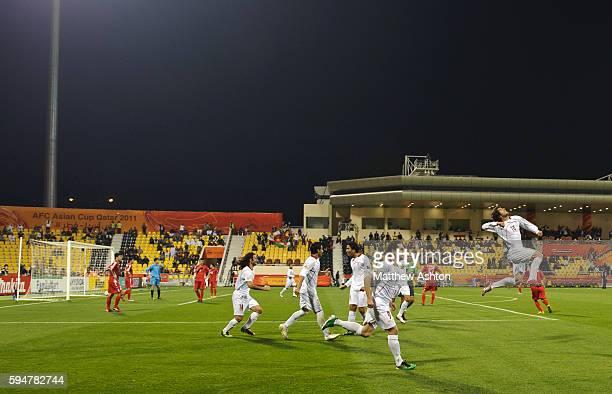 Karim Ansarifard of Iran celebrates after scoring a goal to make it 10