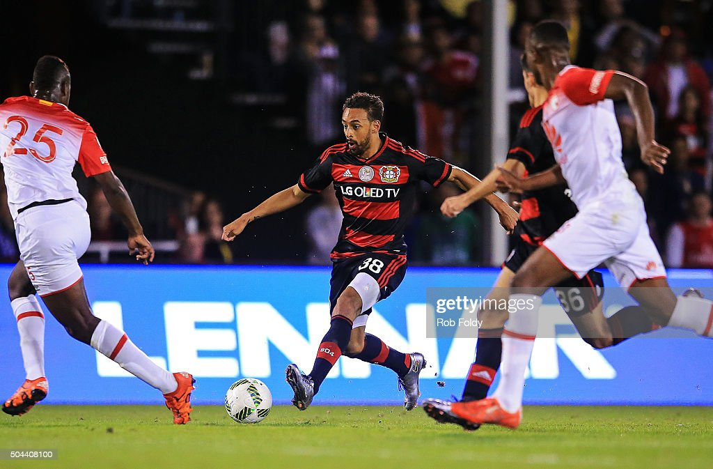 Karim Bellarabi #38 of the Bayer Leverkusen in action during the match against Bayer Leverkusen at the ESPN Wide World of Sports Complex on January 10, 2016 in Kissimmee, Florida.