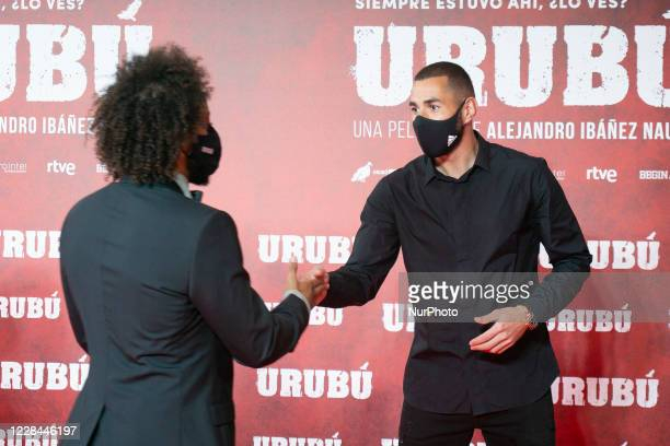 Karim Benzema attends 'Urubu' premiere at the Callao cinema on September 10 2020 in Madrid Spain