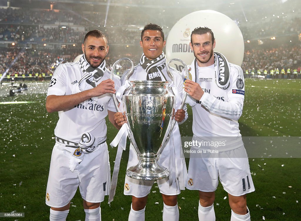 Real Madrid Celebrate After They Win Champions League Final : News Photo