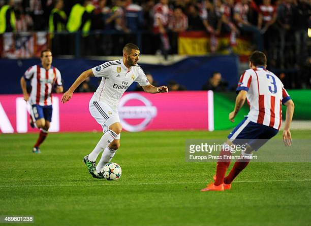 Karim Benzema during the UEFA Champions League Quarter Final First Leg match between Club Atletico de Madrid and Real Madrid CF at Vicente Calderon...