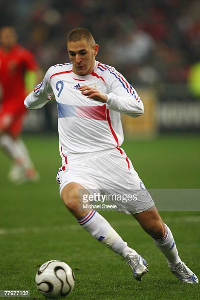 Karim Benzema of France during the International Friendly match between France and Morocco at the Stade de France on November 16th2007