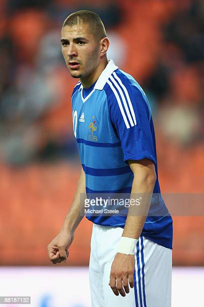 Karim Benzema of France during the International Friendly match between France and Nigeria at the Stade GeoffroyGuichard on June 2 2009 in St Etienne...